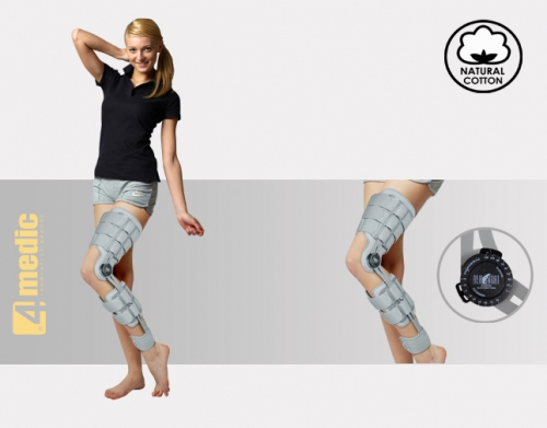 After-surgery brace of lower limb  with splints 1R, AM-KD-AM/1RE-ACL