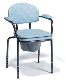 Unfoldable toilet chair with adjustable height Vermeiren 9063