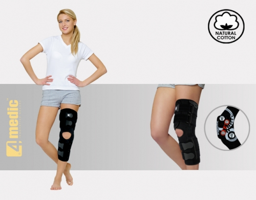 Open brace for lower limb with splints 2RA, AM-OSK-OL/2RA