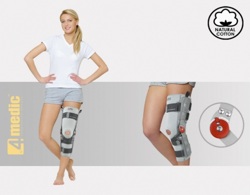 Lower limb brace with splints 1R and reinforcement ACL ProFit, EB-SKL/1R