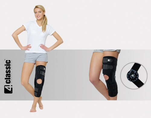Open brace for lower limb with splints AM-OSK-OL/1R