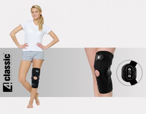 Open knee brace with two splints AM-OSK-O/2