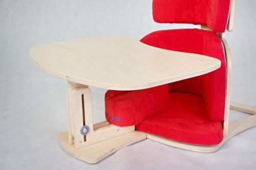 Tray for positioning chair