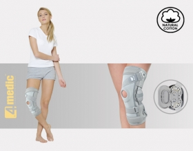 Knee joint brace with splint 2R and dynamic spiral belt, AM-OSK-ZJ/2R