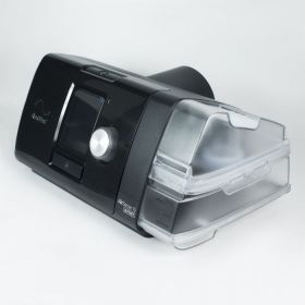 Auto CPAP ResMed AirSense 10 AutoSet with heated humidifier HumidAire and nasal mask Mirage FX