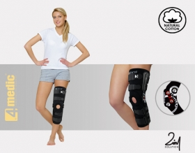 Lower limb brace with splints 2RA and cross reinforcement AM-OSK-ZL/2RA-02