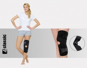 Open knee brace with two splints 1 AM-OSK-O/1