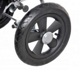Rear wheel with inflatable tire for RACER+