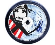 Spoke protectors - motive pirat B85