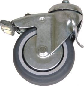 Castors with blocked reverse movement of standing frame(z)