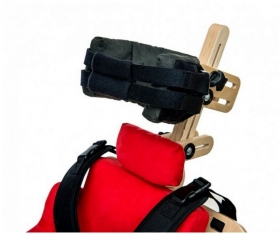 Head supporting belt for vertical stander and chair DALMATIAN