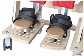 3D foot adjustment for vertical stander and chair DALMATIAN