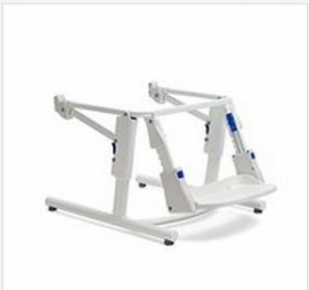 Fixed subframe with footbench for universal toilet system Rifton HTS