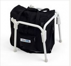 Travel subframe with bag for universal toileting seat system Rifton HTS