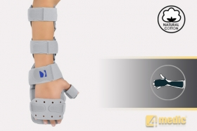 Hand and forearm support with stabilization of position AM-SDP-K-02