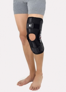 Open knee brace with two splints 2RA, AM-OSK-O/2RA
