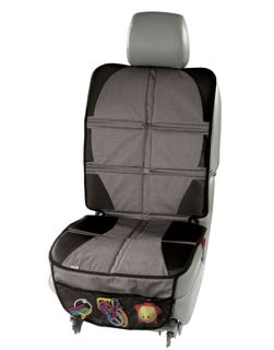 Car seat protection mat with back