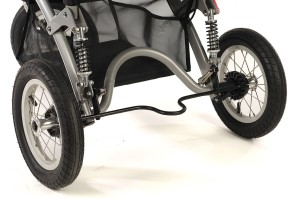 two black wheels of special tomato jogger stroller