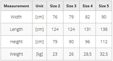 PRoduct dimensions of Activall Cross special needs stander frame.