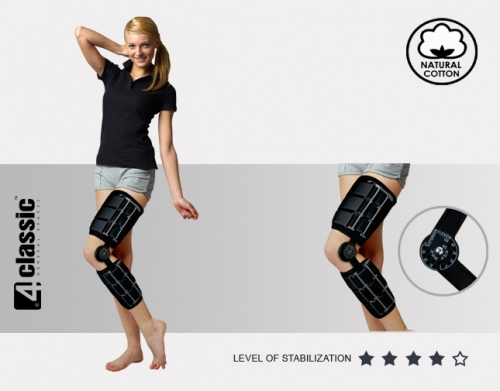 Lower limb brace with splints 1R AM-KD-AM/1R