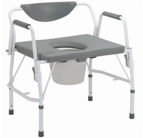 Bariatric drop arm commode chair