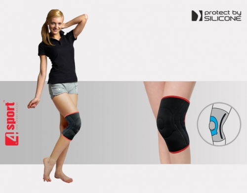 Knee joint brace with whalebone AS-SK/F