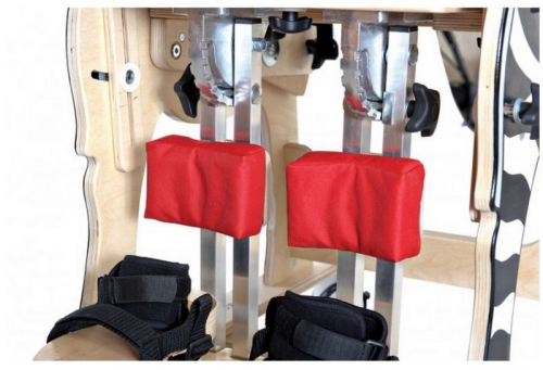 Lower limbs supporting cushions for vertical stander and chair DALMATIAN