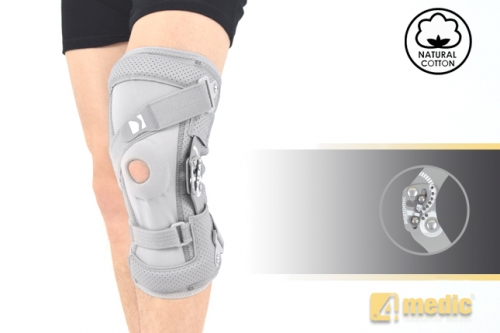 Splint knee joint brace with splint 2RA and dynamic spiral belt, AM-OSK-ZJ/2RA
