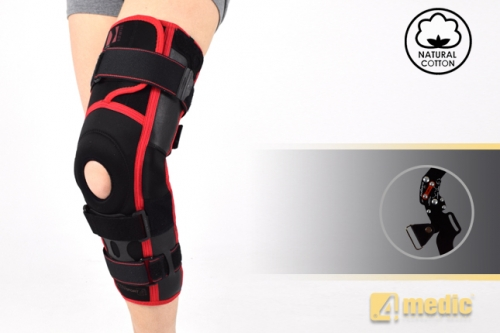 Lower limb brace with splints and dynamic system ACL power AM-OSK-ZL/2RA-ACL