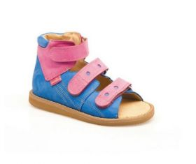 Summer orthopedic shoes for children BLUE/PINK