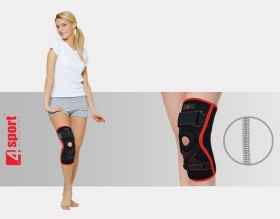 Knee joint brace with whalebone and orthopaedic support AS-SKL/F