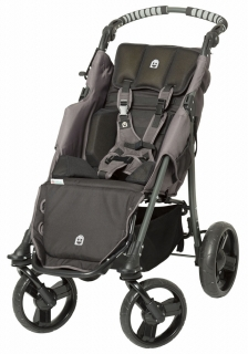 Black push chair for disabled children