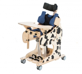 Rehabilitation standing frame with chair function DALMATIAN - Manual