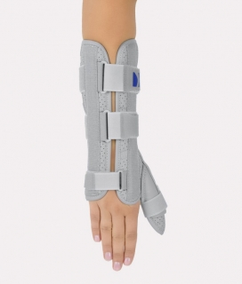Forearm and hand brace with thumb stabilization AM-OSN-U-02