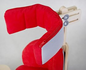 "Adjustable headrest for positioning chair ""Nook"""